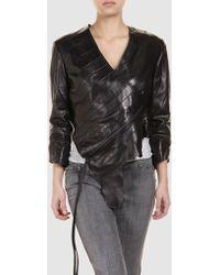Aminaka Wilmont Leather Outerwear - Lyst