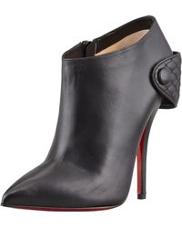 Christian Louboutin Huguette Leather Ankle Boot  - Lyst