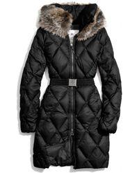 COACH Long Legacy Puffer Jacket - Black