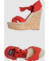 D&G Red Wedge - Lyst