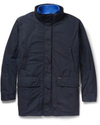 Façonnable Hooded Jacket With Detachable Down-Filled Lining - Blue