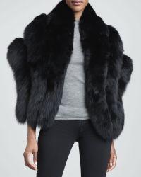 Gorski - Fox Fur Capelet Black - Lyst