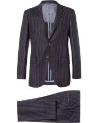 Hackett - Chalk Stripe Wool Suit - Lyst