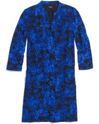 Madewell Silk Director Shiftdress  blue - Lyst