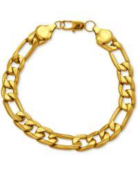 Marc Ecko Goldtone Link Chain Bracelet - Lyst