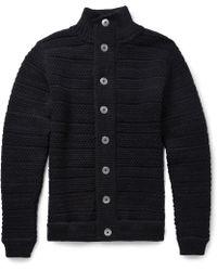 S.N.S Herning - Bubbleknit Wool Cardigan - Lyst