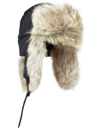 Canada Goose Aviator Coyote-Trimmed Trapper Hat - Blue