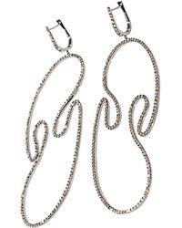 Diane Kordas - Diamond Gold Open Swirl Earrings - Lyst