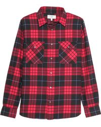 Jack Spade - Plaid Flannel Shirt-Red Size S - Lyst
