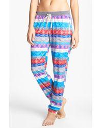 Kensie Chilled Out Fleece Ski Pajama Pants - Lyst