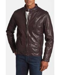 Levi's Leather Café Racer Jacket - Lyst