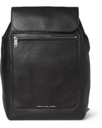 Marc By Marc Jacobs Fullgrain Leather Backpack - Black