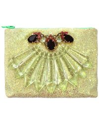 Mawi Glitter Clutch With Crystals - Lyst