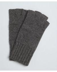 Portolano Charcoal Cashmere Fingerless Gloves - Lyst