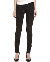 7 For All Mankind Gwenevere Jacquard Print Skinny Jeans - Lyst