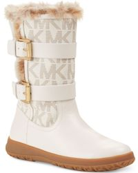 Michael Kors Aaran Cold Weather Faux-Fur Boots  - White