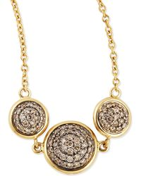 Syna - Chakra Reversible Black/champagne Diamond Necklace - Lyst