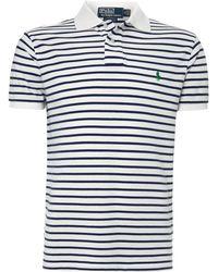 Polo Ralph Lauren Fine Stripe Polo Shirt - Lyst