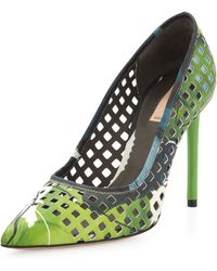 Reed Krakoff - Perforated Floral Pointy Pump - Lyst