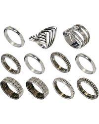 Asos Patterned All Finger Ring Pack - Lyst