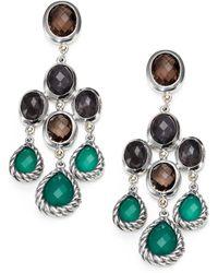 David Yurman Semiprecious Multistone Sterling Silver Chandelier Earrings - Lyst