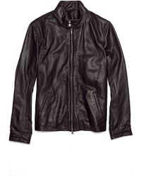 Vince Harrington Leather Motorcycle Jacket - Black