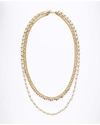 Ann Taylor Pearlized Multi Chain Necklace - Lyst