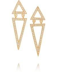 Halleh - 18karat Gold Diamond Triangle Earrings - Lyst