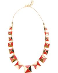 Marc By Marc Jacobs Pyramid Stud Necklace - Metallic