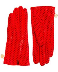Boutique Moschino - Moschino Cheap and Chic Nappa Perforated Gloves - Lyst