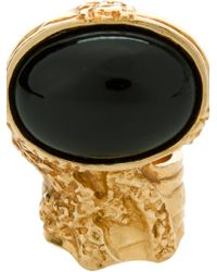 Saint Laurent Embellished Ring - Lyst
