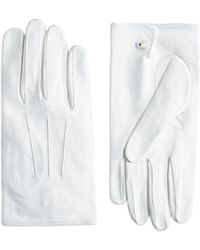 Brooks Brothers White Formal Gloves - Lyst