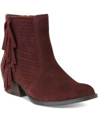 Kenneth Cole Reaction boots flat boots ankle boots - Red
