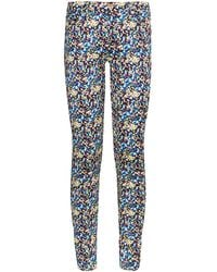 7 For All Mankind The Skinny Jean In Dot Print - Lyst