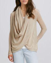 Alice + Olivia Draped Linen Sweater - Lyst