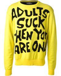 Jeremy Scott Adults Suck Crew Neck Sweater - Lyst