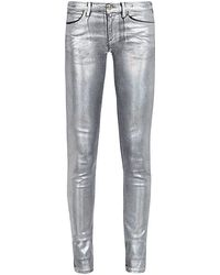Juicy Couture Metallic Skinny Jeans - White