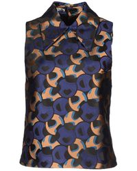 Miu Miu Sleeveless Shirt blue - Lyst