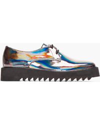 Surface To Air - Gunmetal Iridescent Leather Asteroid Derbys - Lyst