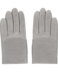 TOPSHOP - Padded Leather Biker Gloves - Lyst