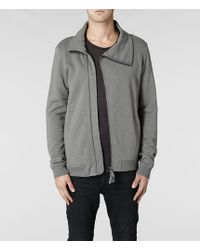 AllSaints Remus Funnel Neck Jumper - Grey