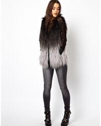Orla Kiely - Asos Petite Exclusive Faux Fur Gilet in Dip Dye - Lyst