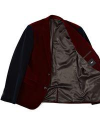 Insight - Asos Slim Fit Blazer in Cut and Sew Velvet - Lyst