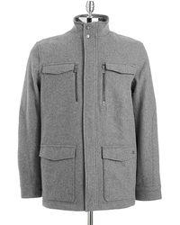 Calvin Klein Wool Jacket - Lyst
