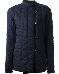 Christophe Lemaire - Quilted Denim Blouson - Lyst