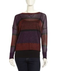 French connection Striped Twinkleknit Sweater - Lyst