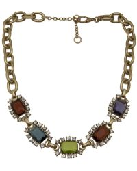 Gerard Yosca Square Jewels Necklace - Metallic