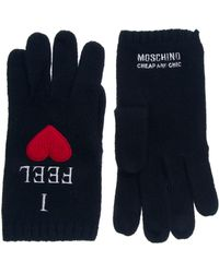Boutique Moschino Moschino Cheap and Chic I Feel Love Gloves - Black