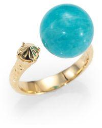 Phillips House Amazonite 14k Gold Ring - Blue