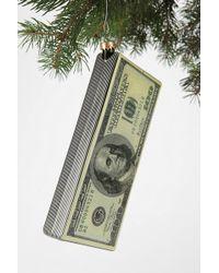 Urban Outfitters 100 Dollar Bill Ornament - Green